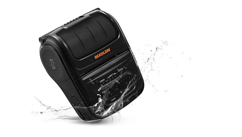 BIXOLON SPP-L310 impresora portátil protegida frente a salpicaduras.