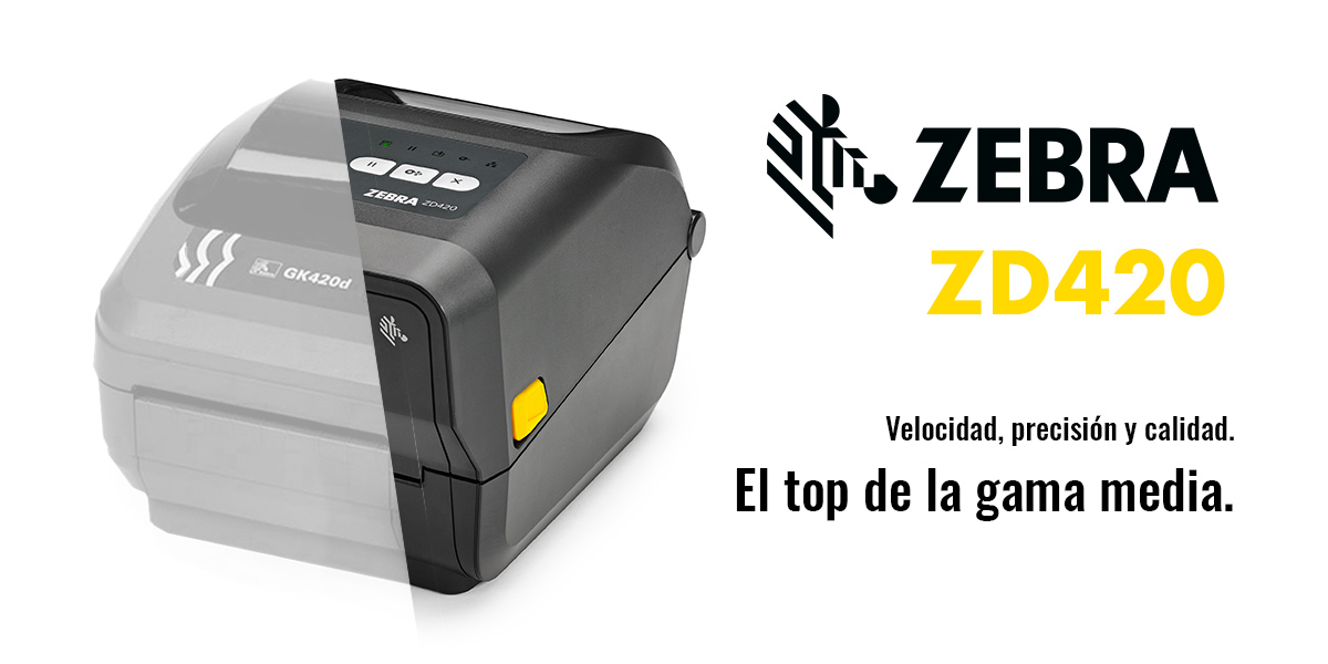 Zebra ZD420, impresora de etiquetas de gama media.